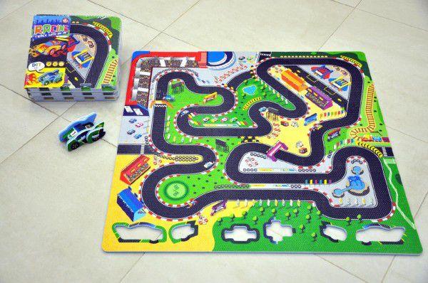 Pěnové puzzle Závodní dráha 32x32cm 9ks v sáčku