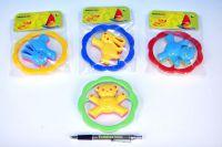 Chrastítko Medvěd/Zajíc plast 12,5cm asst 4 barvy v sáčku 0m+