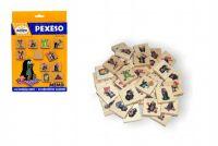 Pexeso Krtek společenská hra 40 dřevěných kamenů v krabici 17x25x2cm