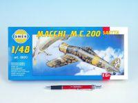 Model Macchi M.C. 200 Saetta 16,1x21,2cm v krabici 31x13,5x3,5cm