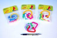 Kousátko tvary plast 8cm - 4 barvy