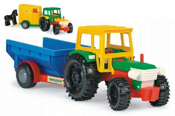 Traktor s vlečkami plast 38cm asst 2 druhy Wader