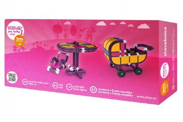 Stavebnice Seva pro holky 1 Mini plast 180ks v krabici 31,5x16,5x7,5cm