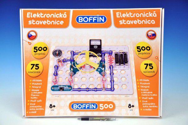 Stavebnice Boffin 500 elektronická 500 projektů na baterie 75ks v krabici 50x39x5cm