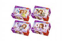 Minipuzzle Princezna Sofia 54dílků  v krabičce 9x6x4cm - 4 druhy