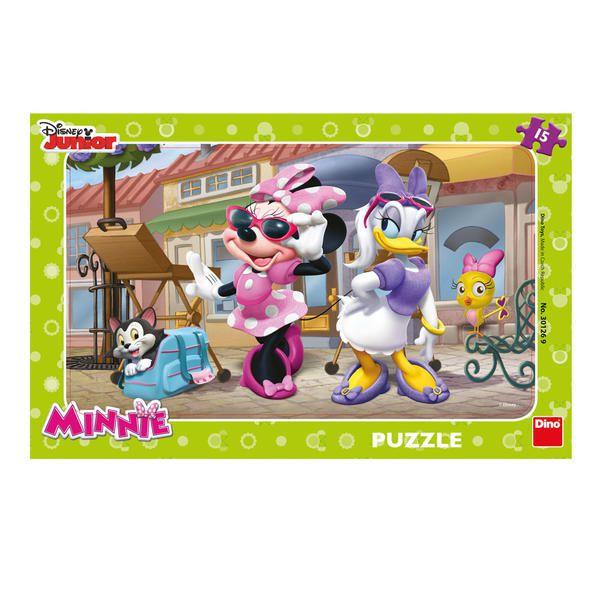 Puzzle deskové Minnie na Montmartru 15 dílků 29x19cm
