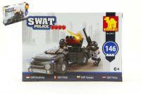 Stavebnice Dromader SWAT Policie Auto 146ks v krabici 22x15x4,5cm