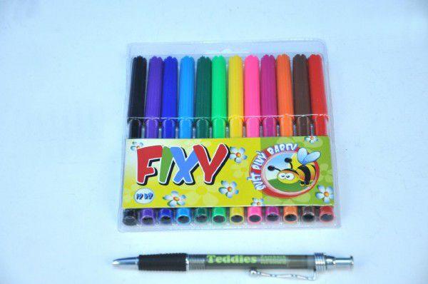 Fixy 12ks v plastové krabičce 13x16cm