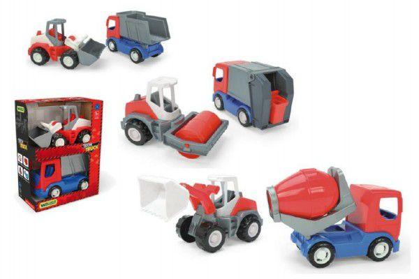 Auto stavební Tech truck 2v1 plast 23cm v krabici 26x35x15cm Wader