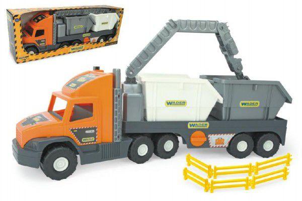 Auto Super Tech Truck kontejner plast 78cm v krabici Wader