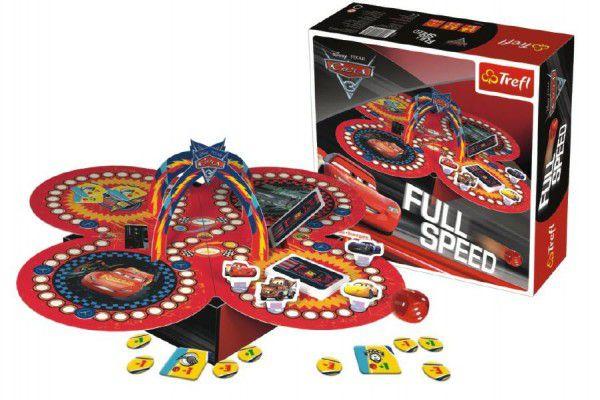 Full Speed Auta/Cars 3 společenská hra v krabici 26x26x8cm