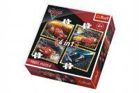 Puzzle 4v1 Auta/Cars 3 Disney v krabici 28x28x6cm