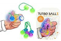 Fidget Turbo ballz plast na baterie se světlem - 4 barvy