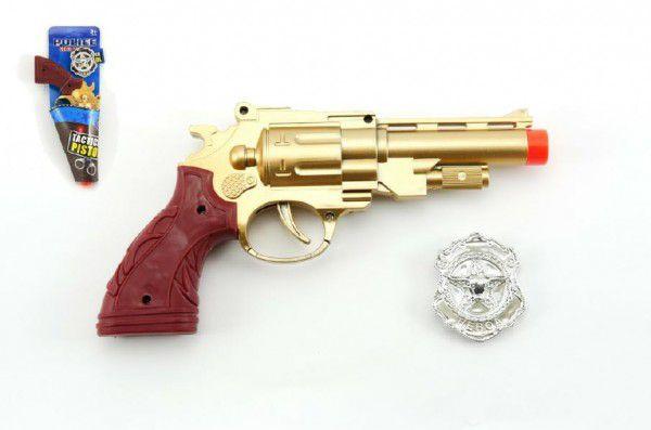 Pistole kolt klapací plast 22cm na kartě