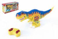 Dinosaurus chodící RC plast 38cm na baterie se zvukem se světlem  2,4GHz v krabici