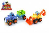 Traktor/Buldozer plast 15cm pro nejmenší - 2 druhy
