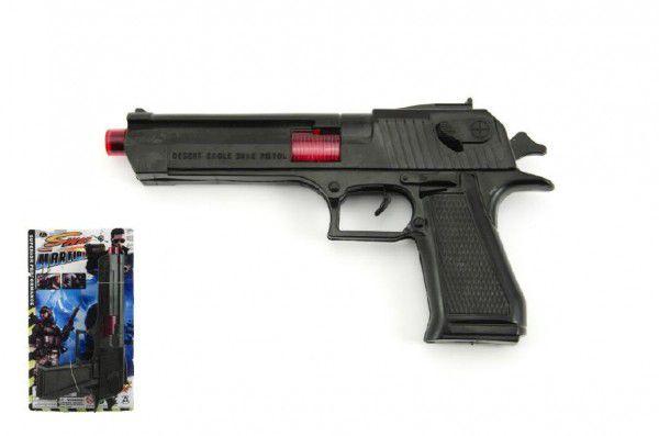 Pistole plast 25cm se zvukem na kartě