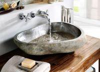 Umývadlo z prírodného riečneho kameňa The Lavabo Cut