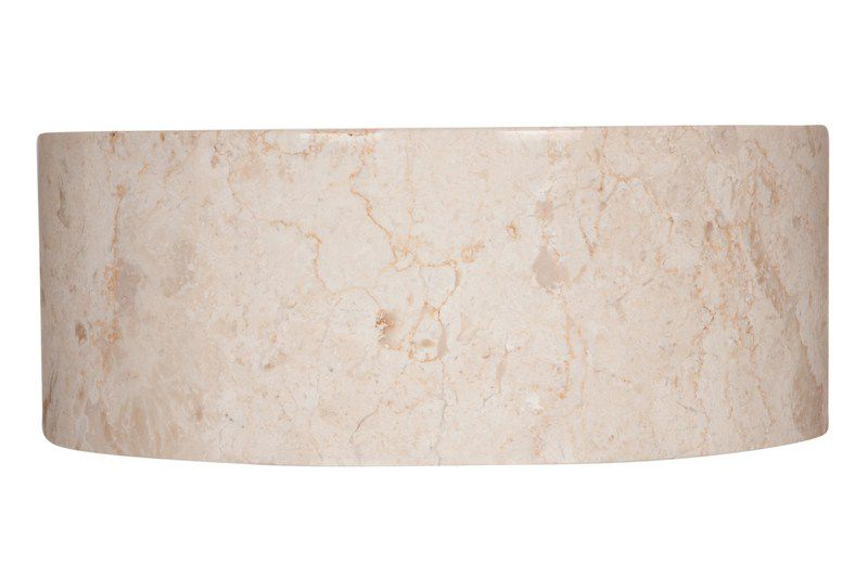 Umývadlo z prírodného kameňa  Mirus 509 na dosku Ø 40 Cream