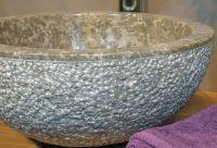 Umývadlo z prírodného kameňa Emma 516 Ø 45 cm Grey