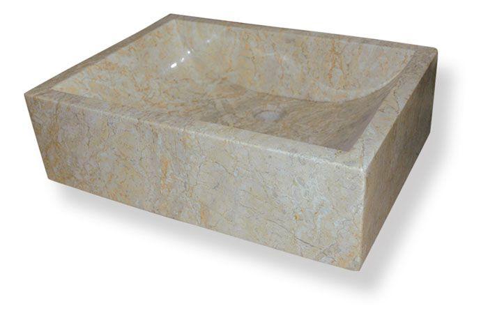 Umývadlo z prírodného kameňa Vester Cream