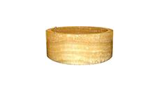 Umývadlo z prírodného kameňa MIRUS 509 na dosku Ø40 Yellow