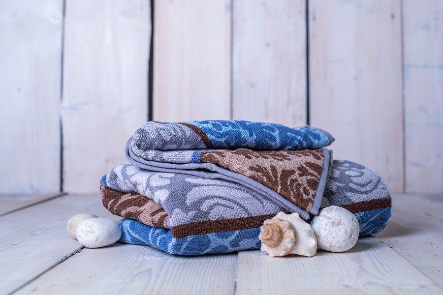 Set osuška + uterák Orient - modrá