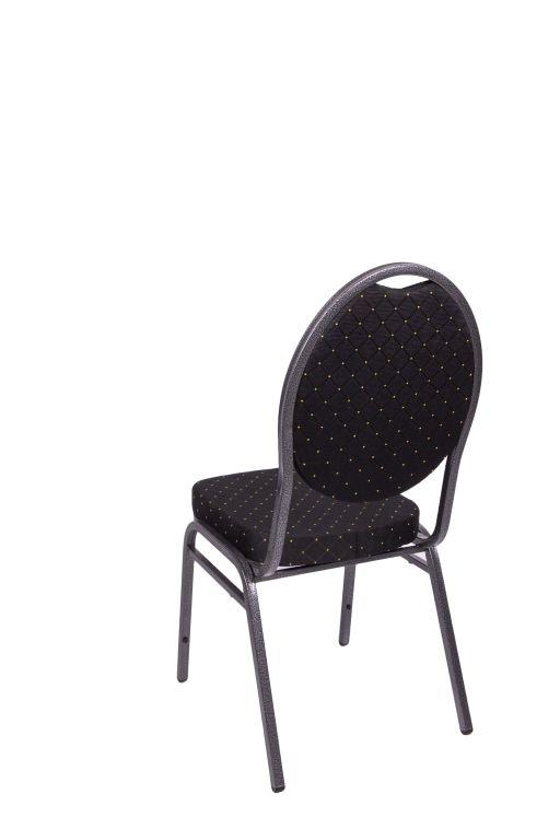 Kvalitná stolička kovová Monza - čierna
