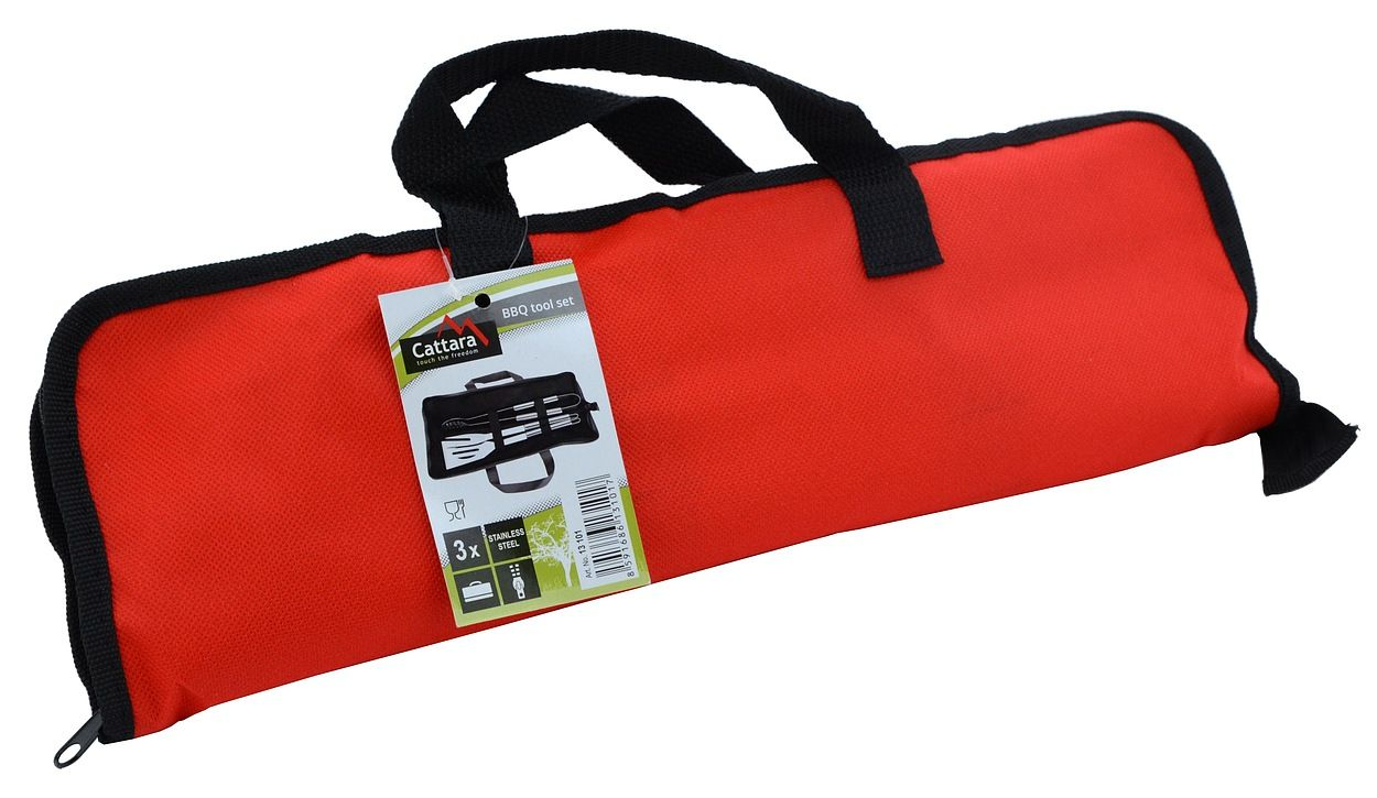 Grilovacie náradie sada 3 ks textil bag
