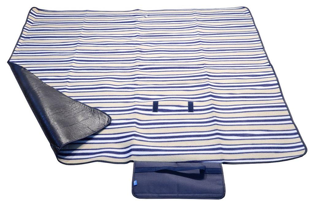 Pikniková deka FLEECE 150 x 135 cm modrá