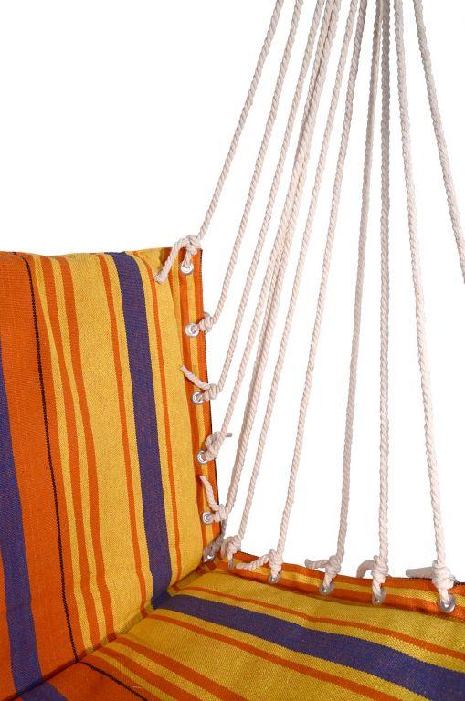 Hojdacia sieť na sedenie 95 x 50 cm červeno-oranžová