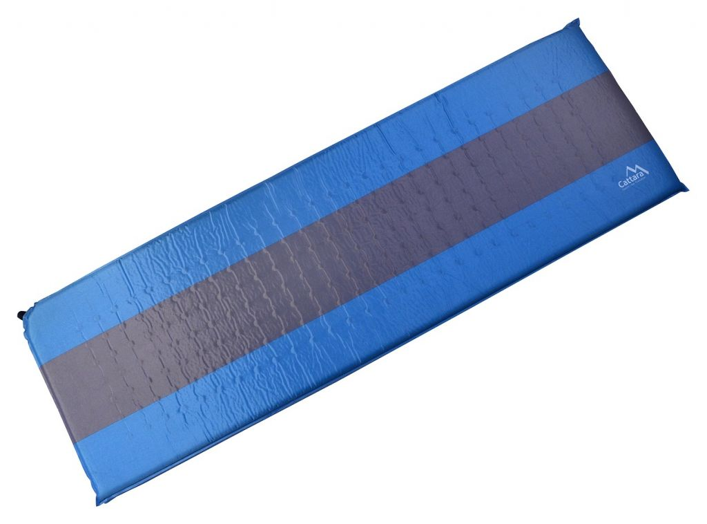 Karimatka samonafukovacia 195 x 60 x 5 cm modro-sivá