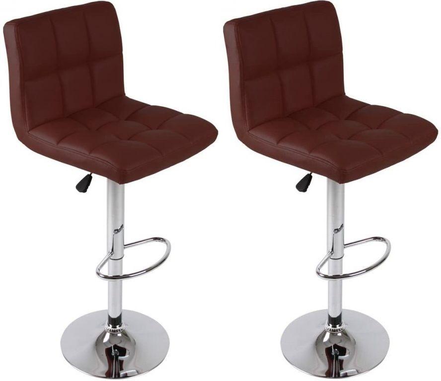 Sada barových stoličiek, červená, 2 ks