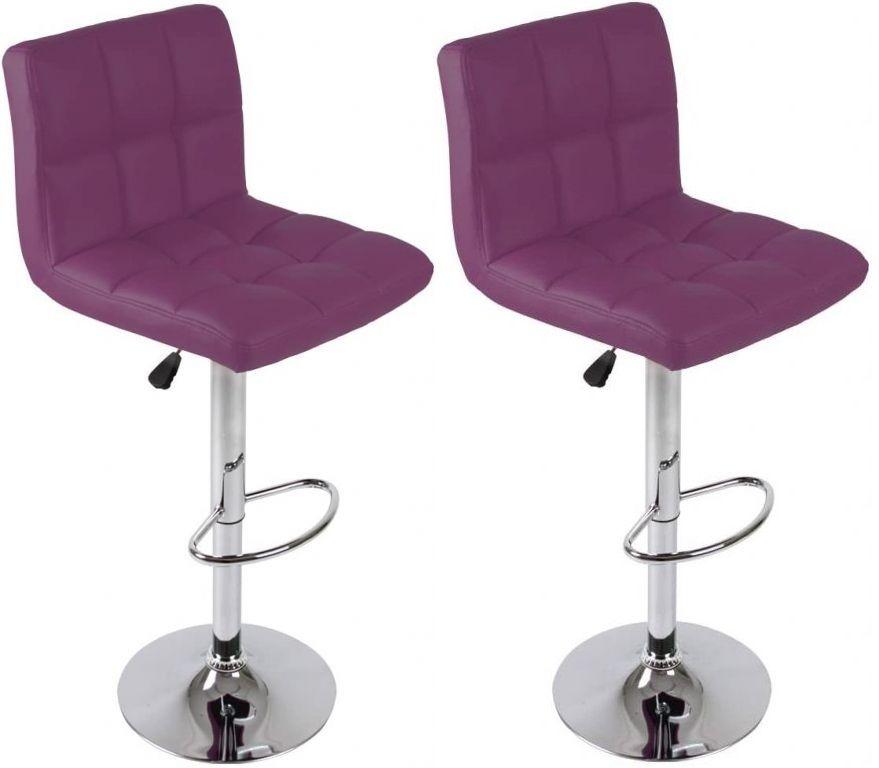Sada barových stoličiek, fialová, 2 ks