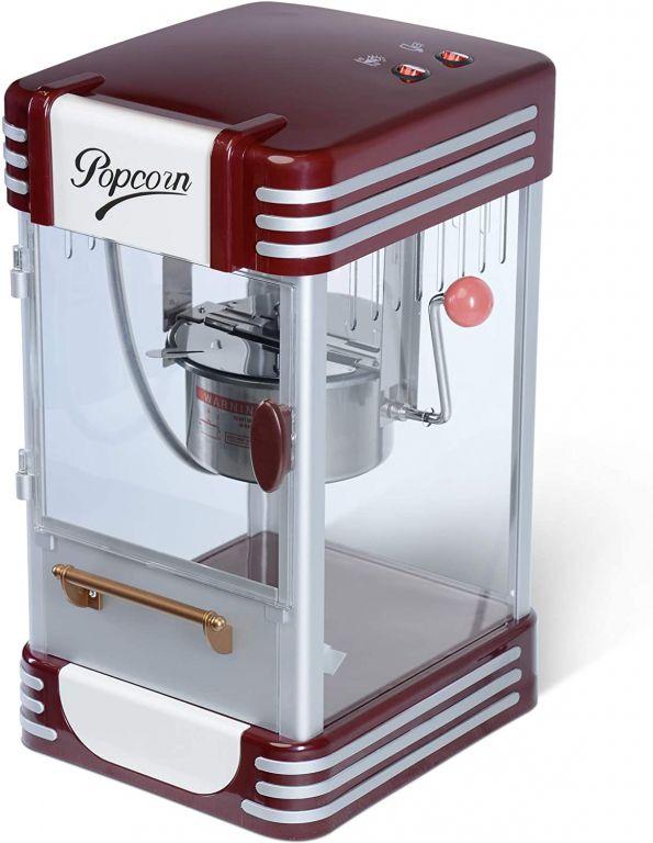 Popcornovač v retro štýle, 220-240 V, 50-60 Hz