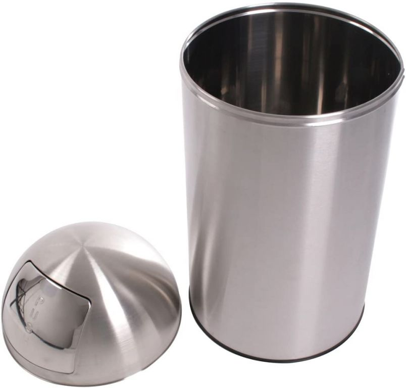 Odpadkový kôš 50 l, strieborný, push