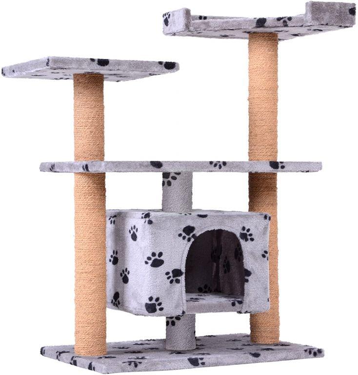 Škrabadlo s odpočívadlom pre mačky, 80 x 43 x 89 cm