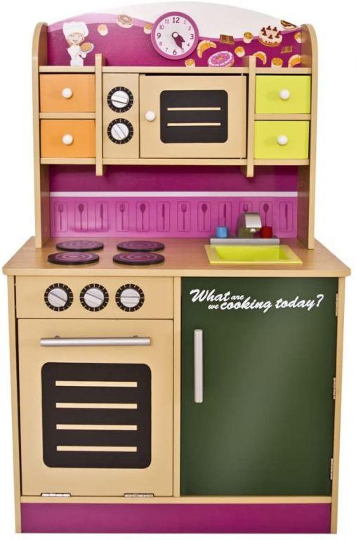 Detská kuchynka, drevená, 61 x 100 x 33 cm