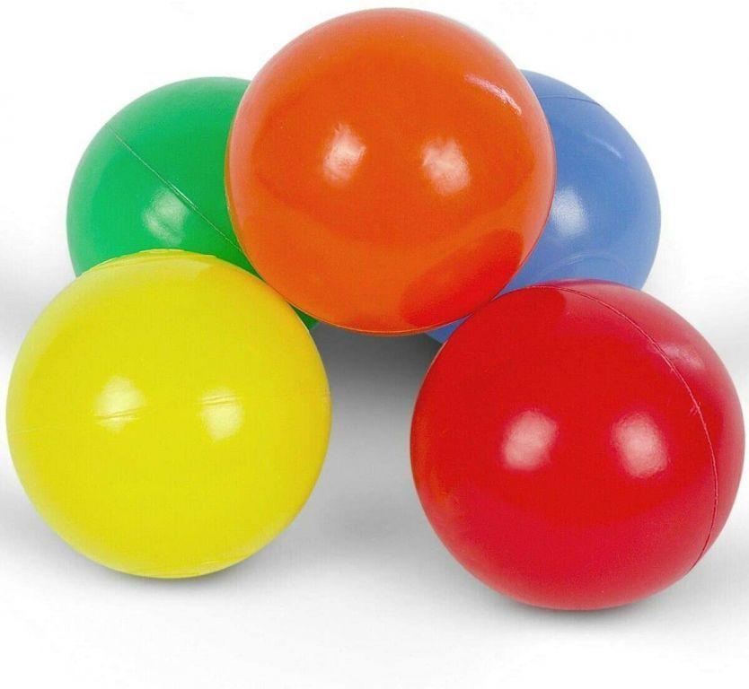 Pestrofarebné loptičky, detské, 100 ks