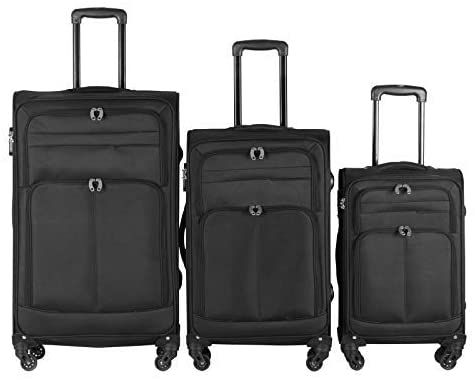 Sada cestovných kufrov na kolieskach, 3 ks