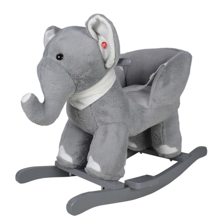 Plyšové hojdacie zvieratko slon, 68 x 33 x 47 cm