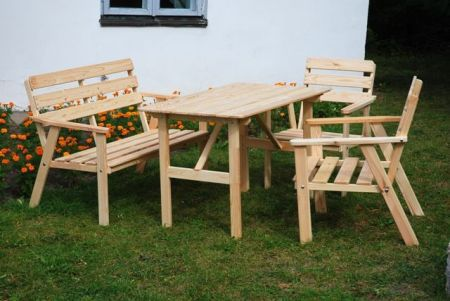 Záhradný drevený set NORDIC FSC