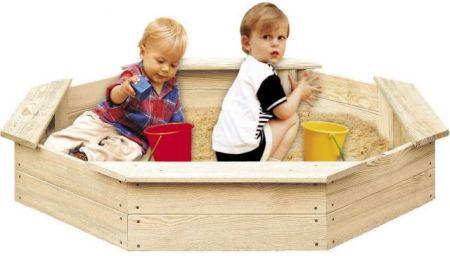 Drevenné pieskovisko pre deti 8-hranné FSC