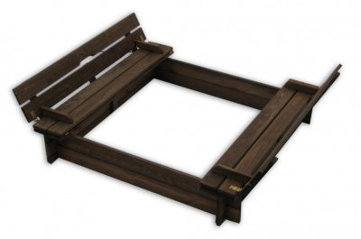 Drevenné pieskovisko s lavičkami