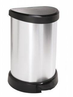 Odpadkový kôš pedálový DECOBIN 20l strieborná CURVER