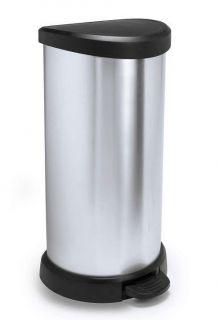 Odpadkový kôš DECOBIN 40l strieborný CURVER