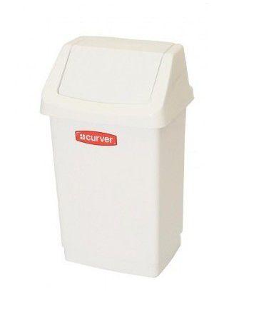 Kôš odpadkový CLICK 9 l - biely CURVER