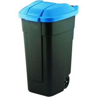 POPELNICE COLOR 110 l - černá/modrá CURVER