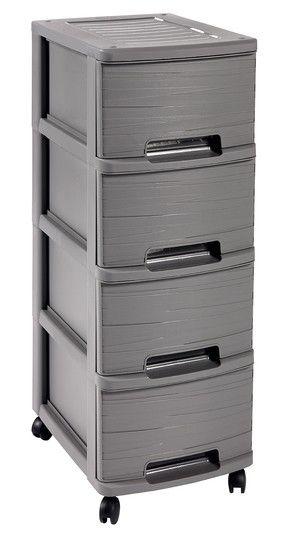 CURVER 32344 RIBBON skříňka - 4 boxy - šedá