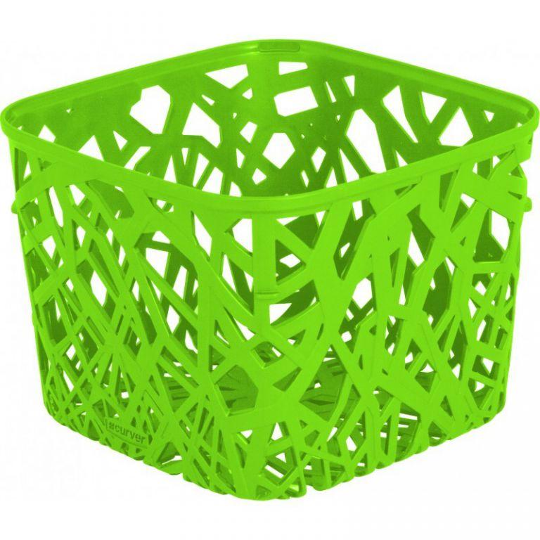 Plastový košík NEO SQUARE - zelený CURVER